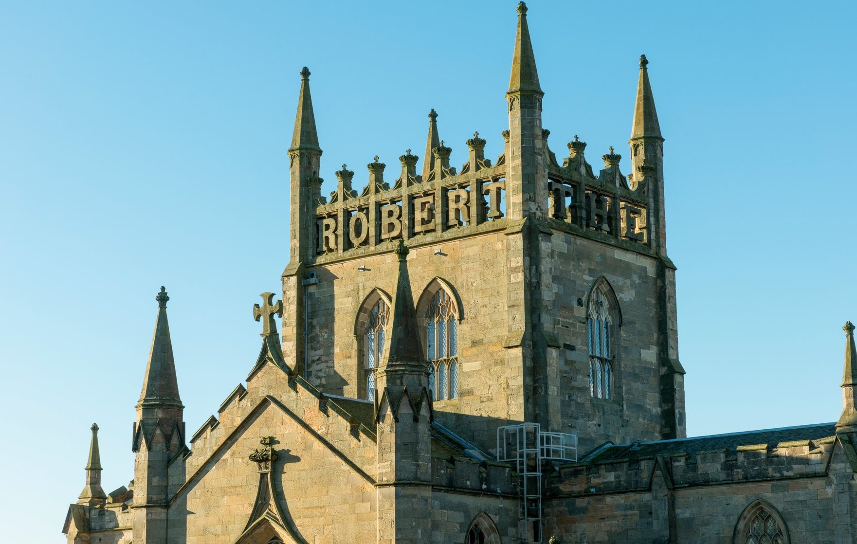Scenes for Outlaw King were filmed at Dunfermline Abbey