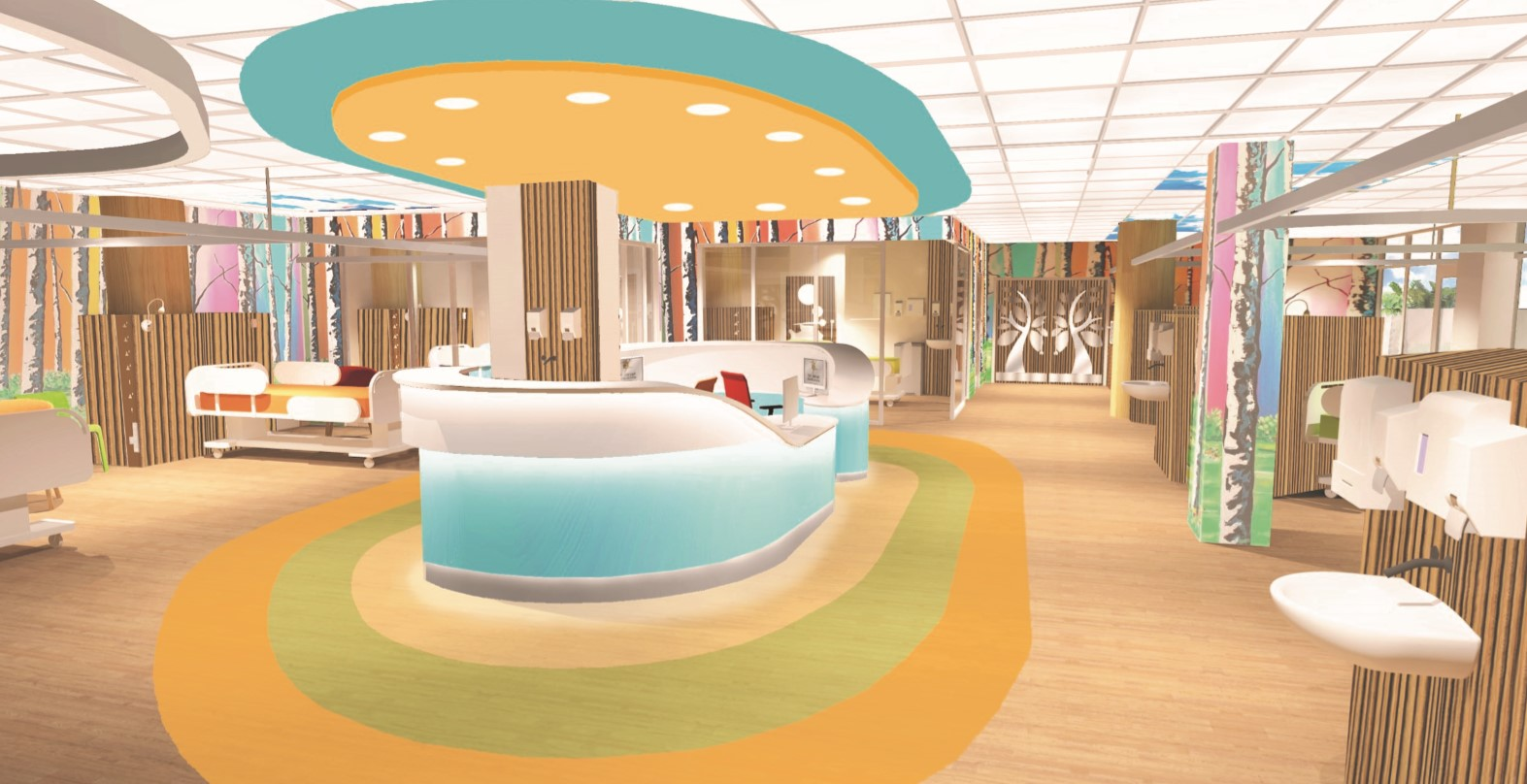How the ward will look in the new children's hospital.