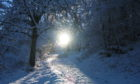 Kinnoull Hill under snow