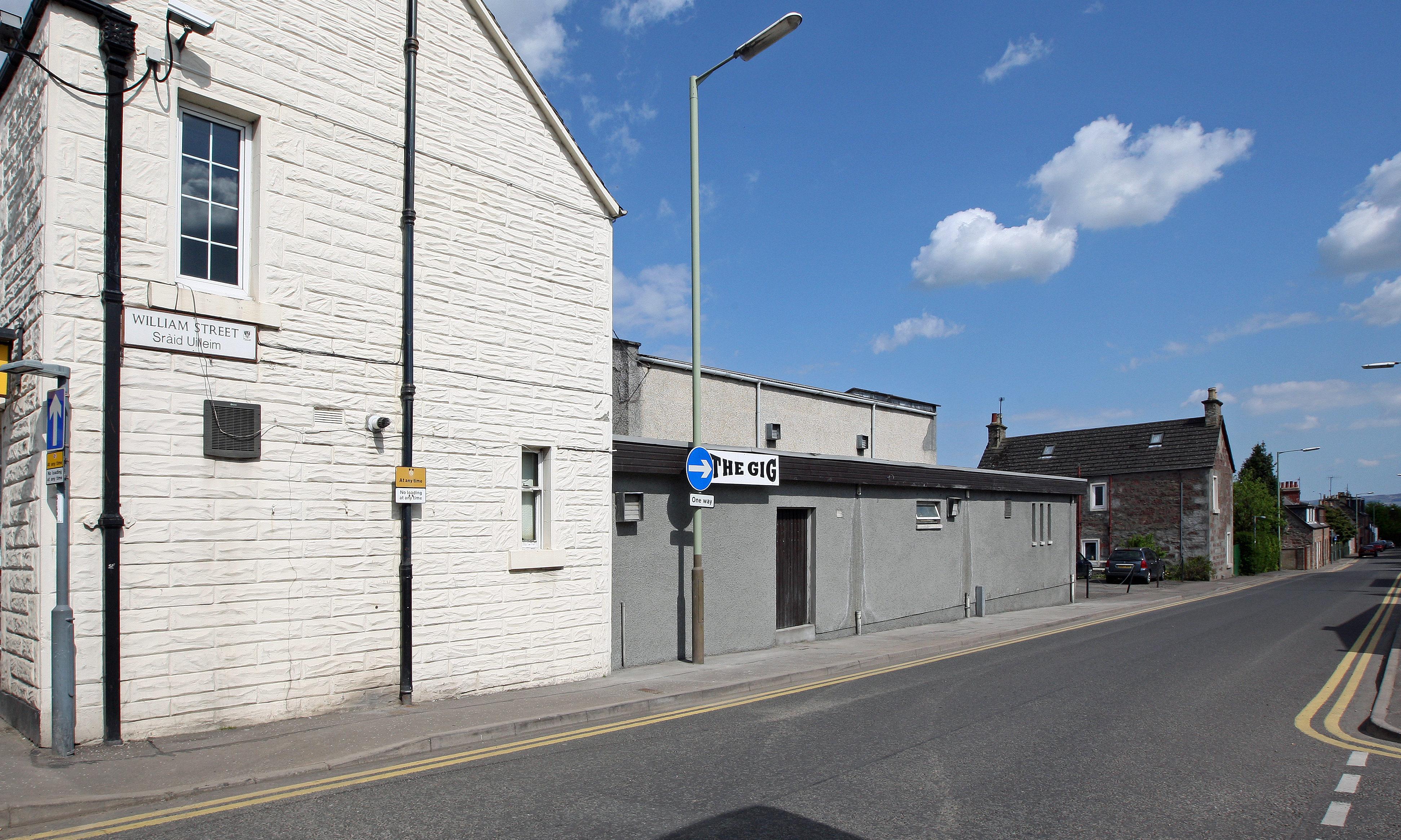 The Gig nightclub, William Street, Blairgowrie.