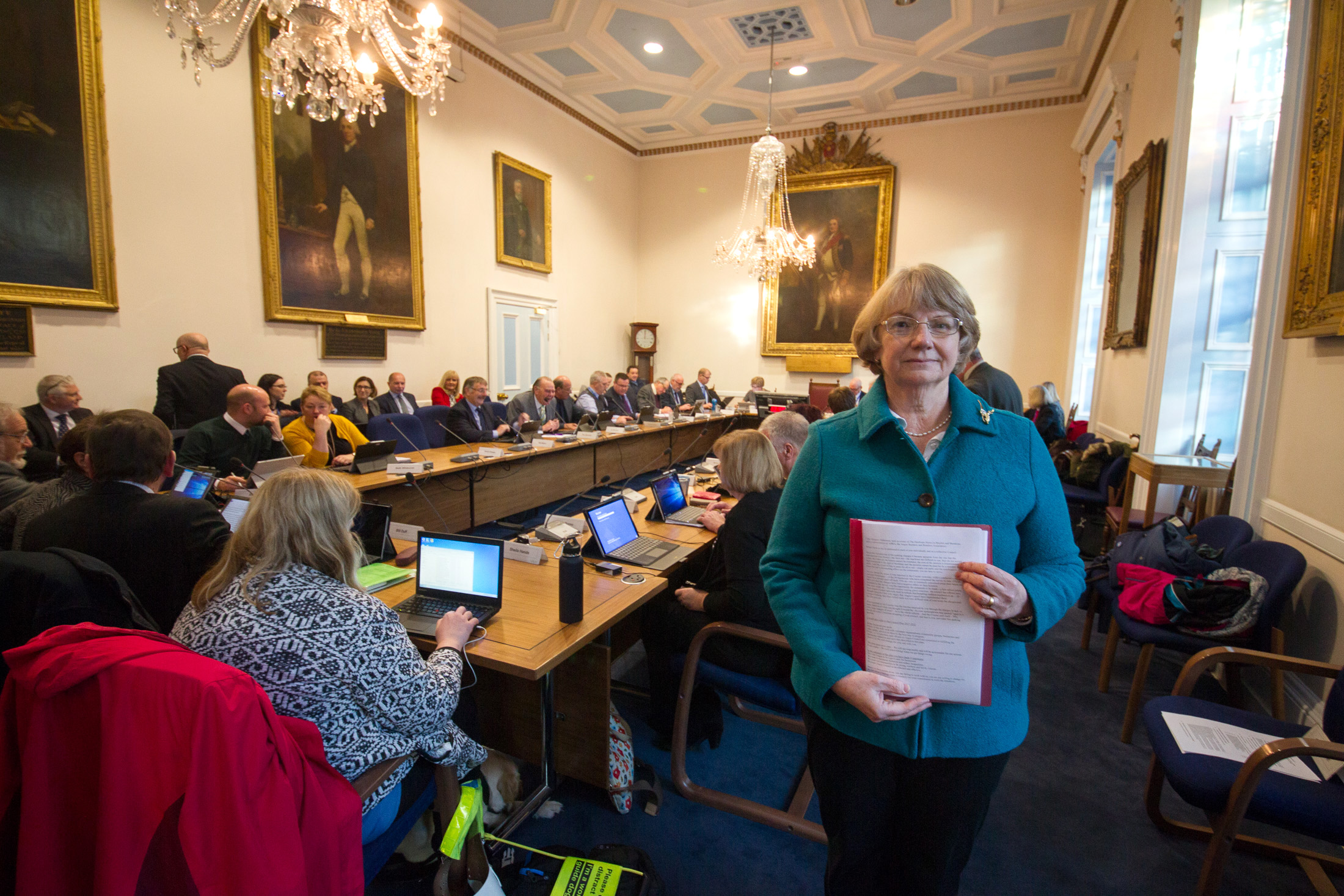 Margaret Robertson discussed the impact of Angus Council parking charges on her business.