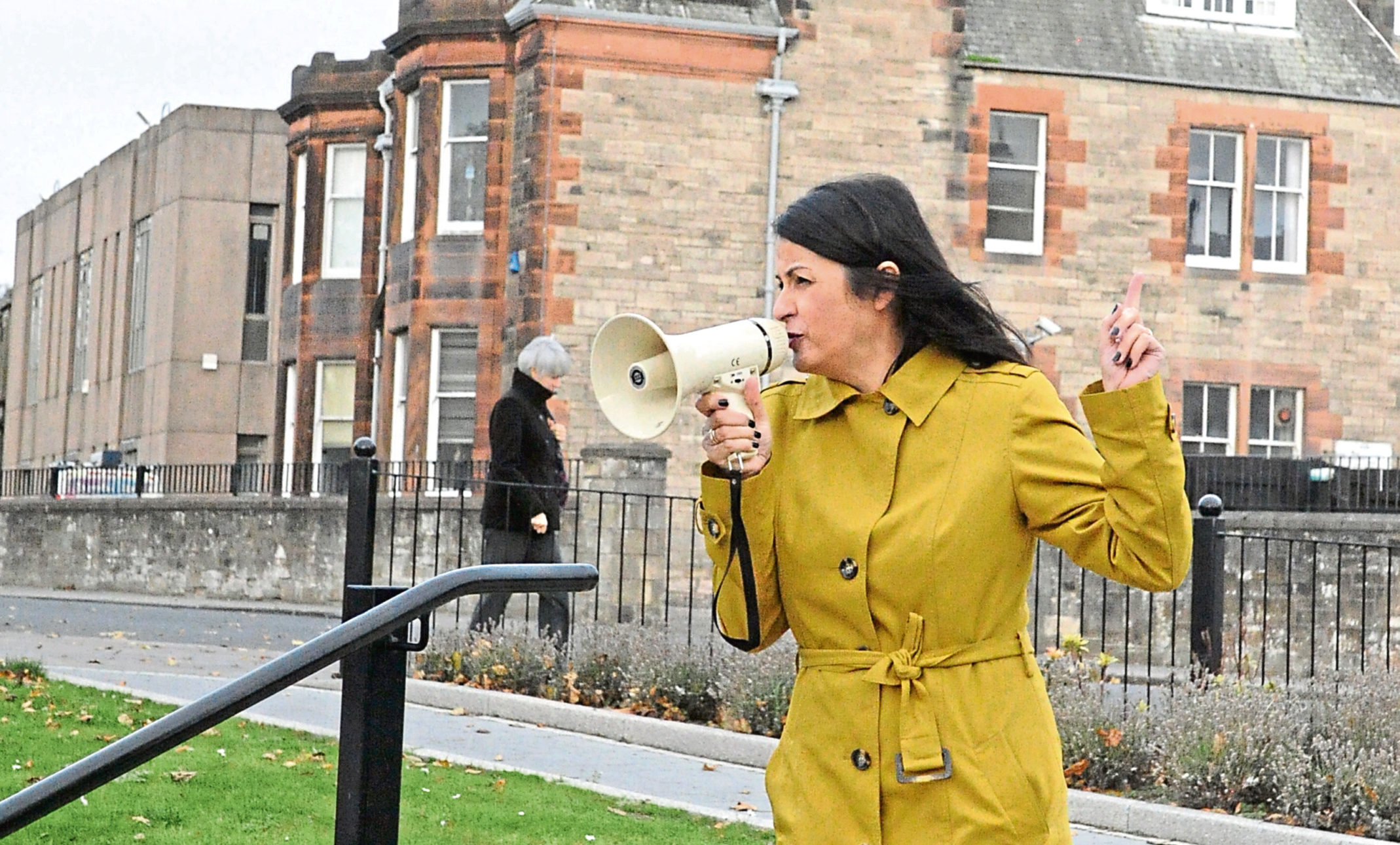 A member of Women Together in Fife (WTF).