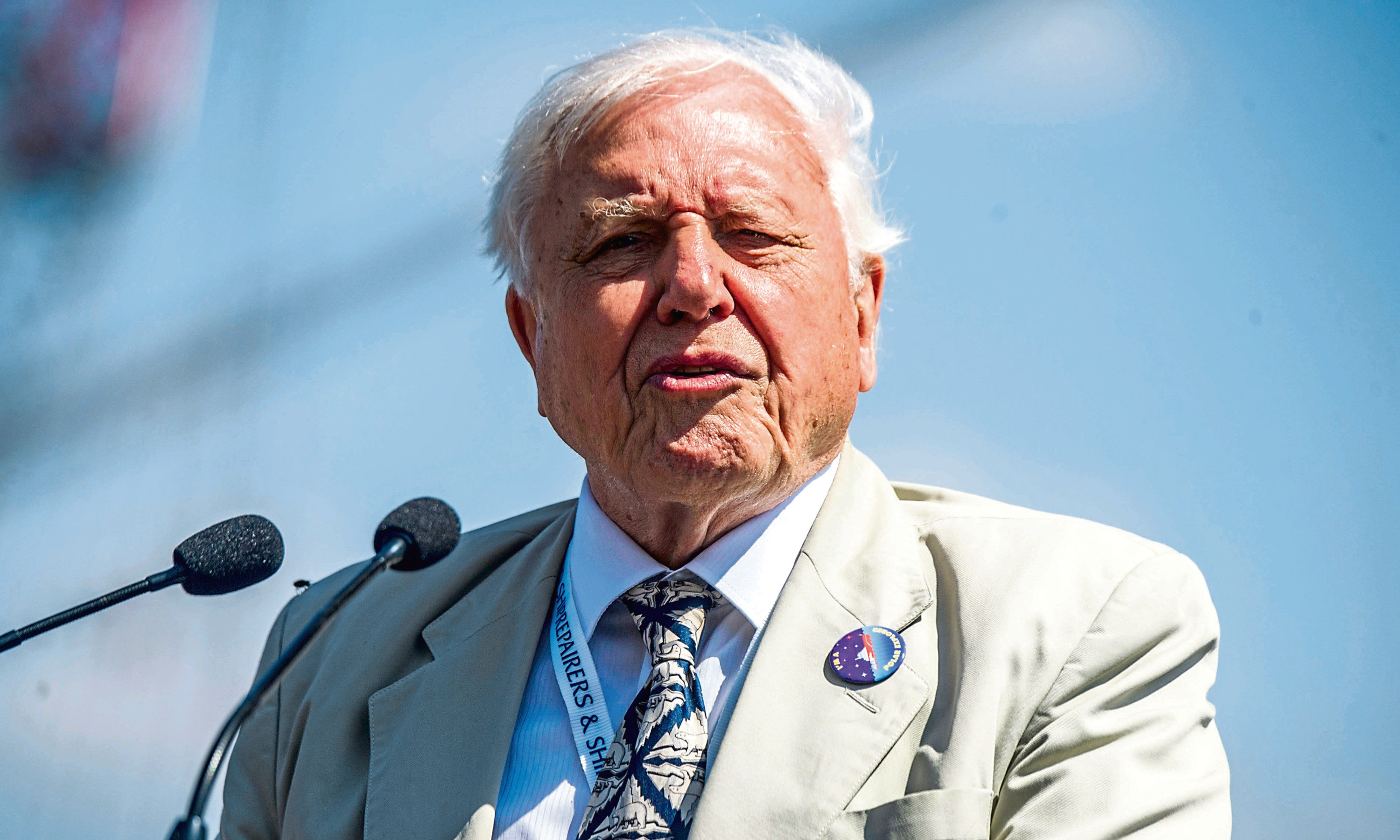 Broadcaster and naturalist Sir David Attenborough.
