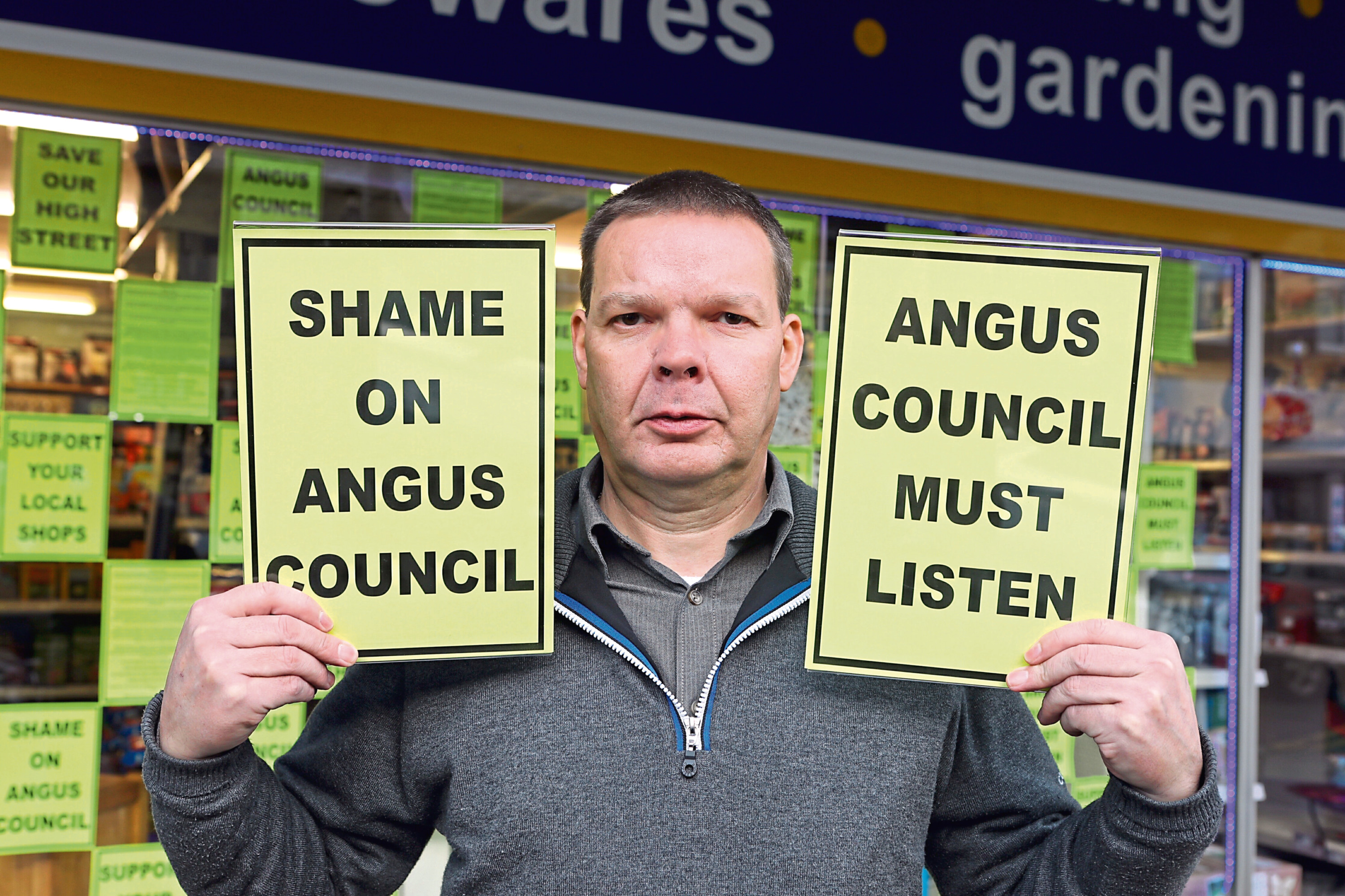 Brechin businessman Bruce Robertson is one of those protesting the parking charges.