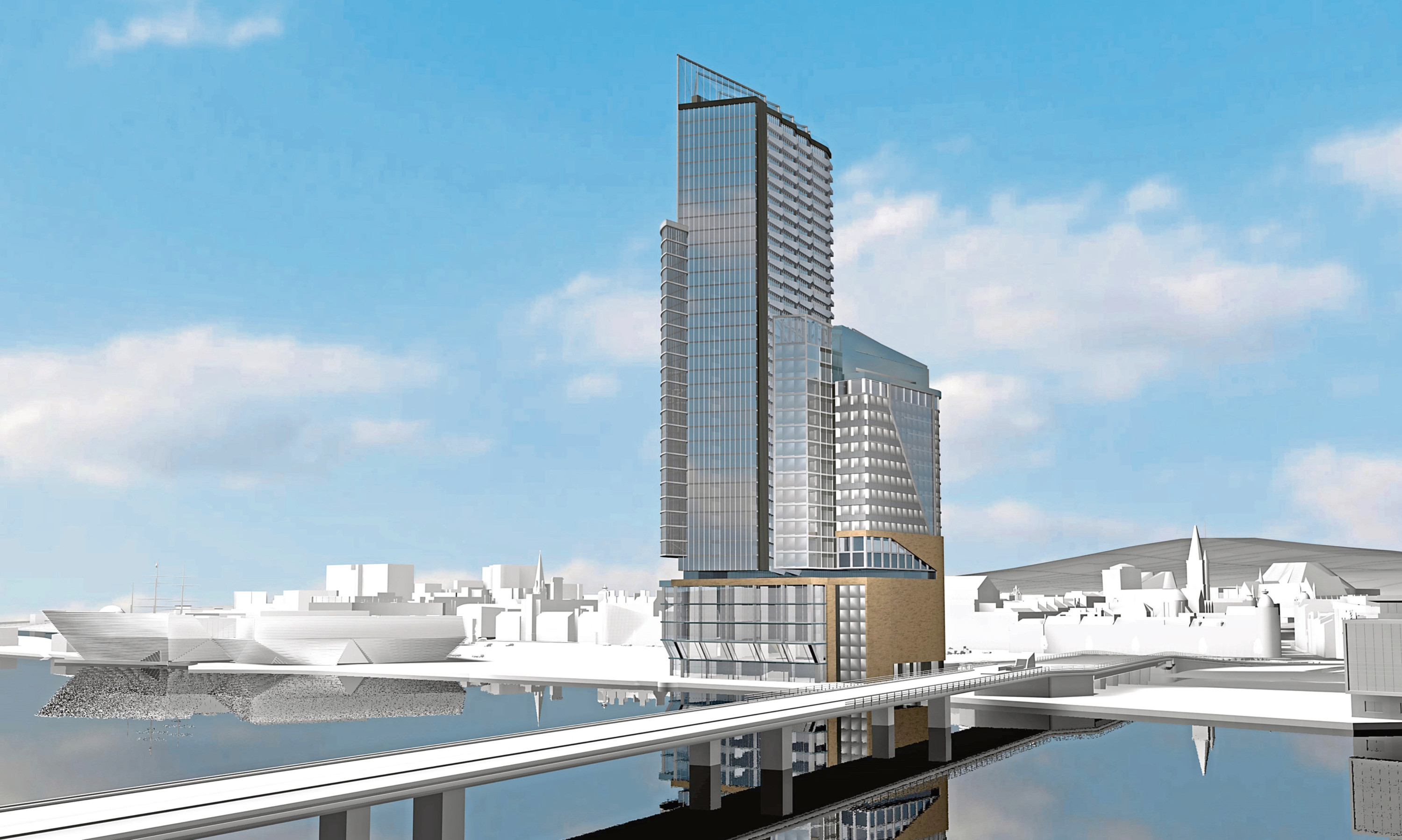The proposed Discovery Heights skyscraper at Dundee Waterfront