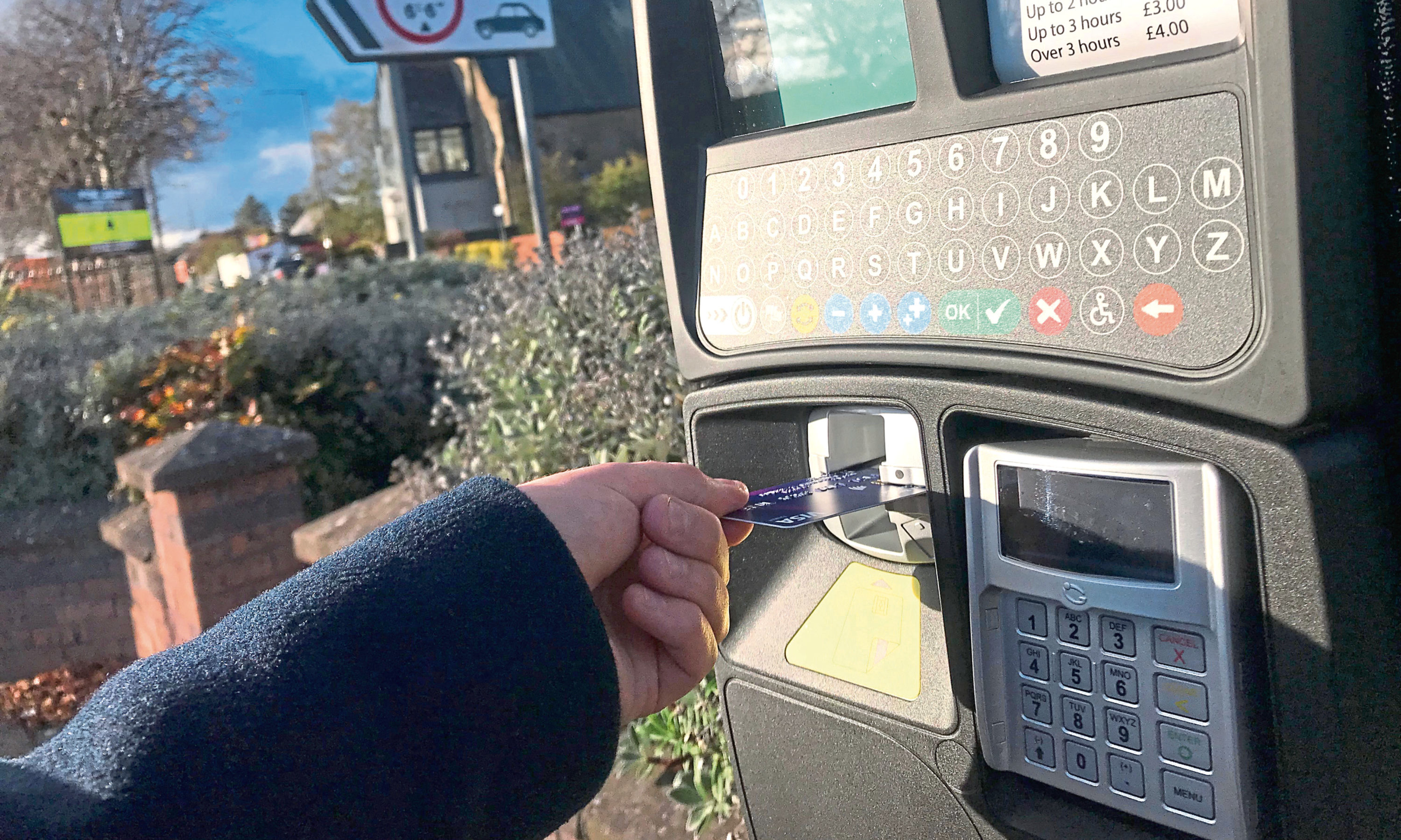 Parking machines in Angus.