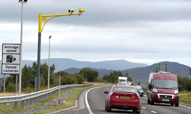 The A9 over Drumochter, south of Dalwhinnie and close to the Highland Council boundary with Perth and Kinross.