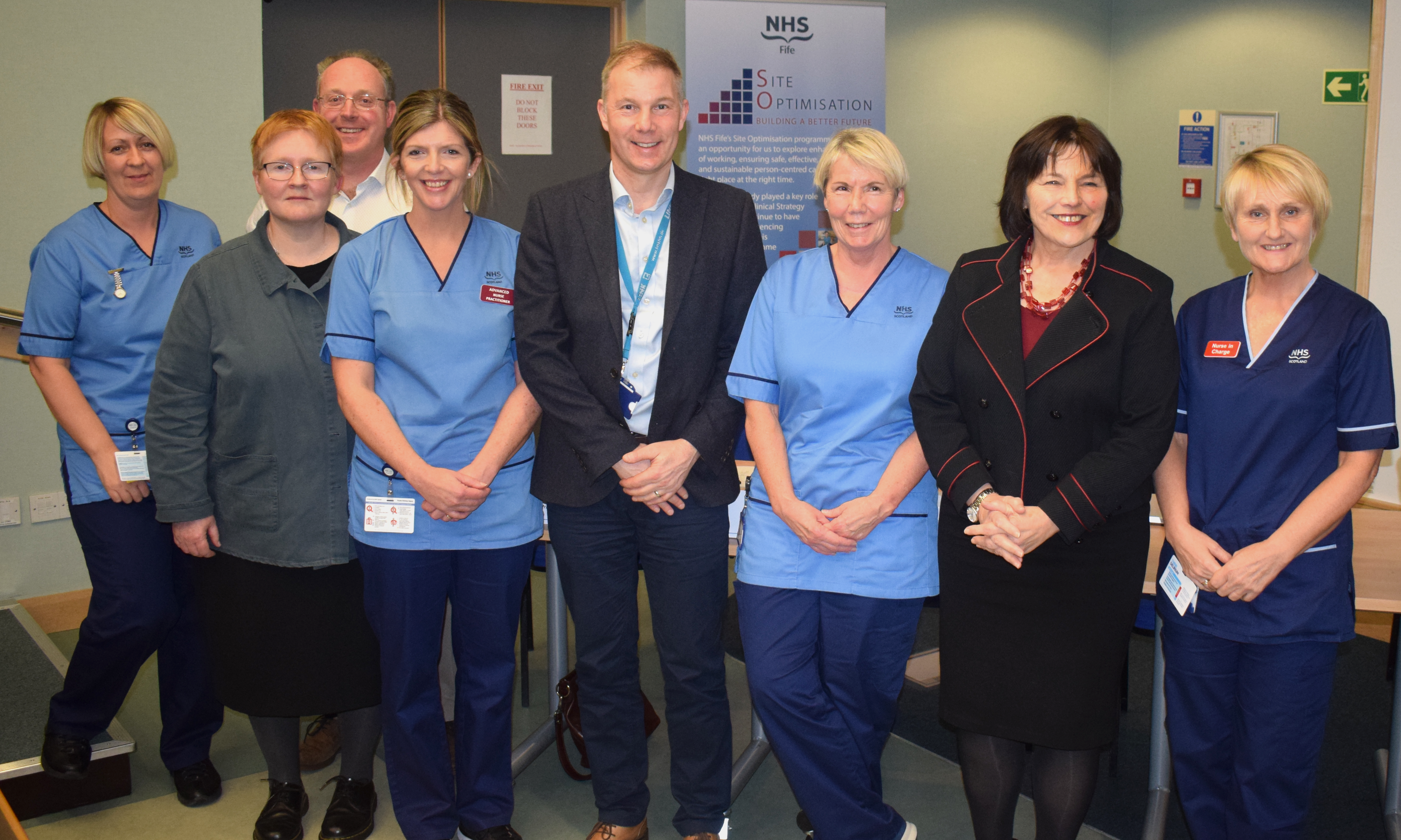 Cabinet Secretary Jeane Freeman met members of the orthopaedics team during NHS Fife annual review