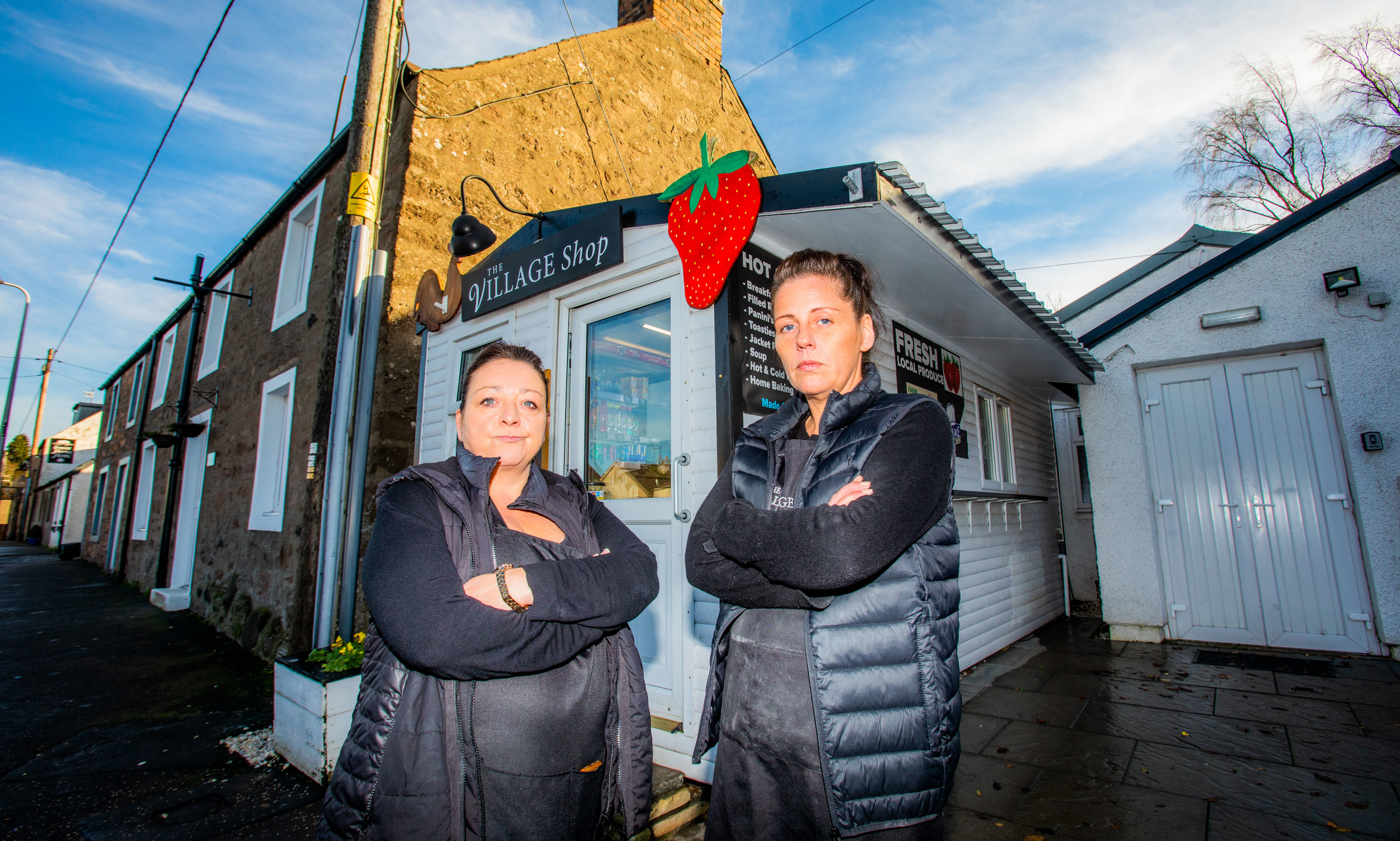 Shop owner Claire Dodds and supervisor Kelly Mclaren