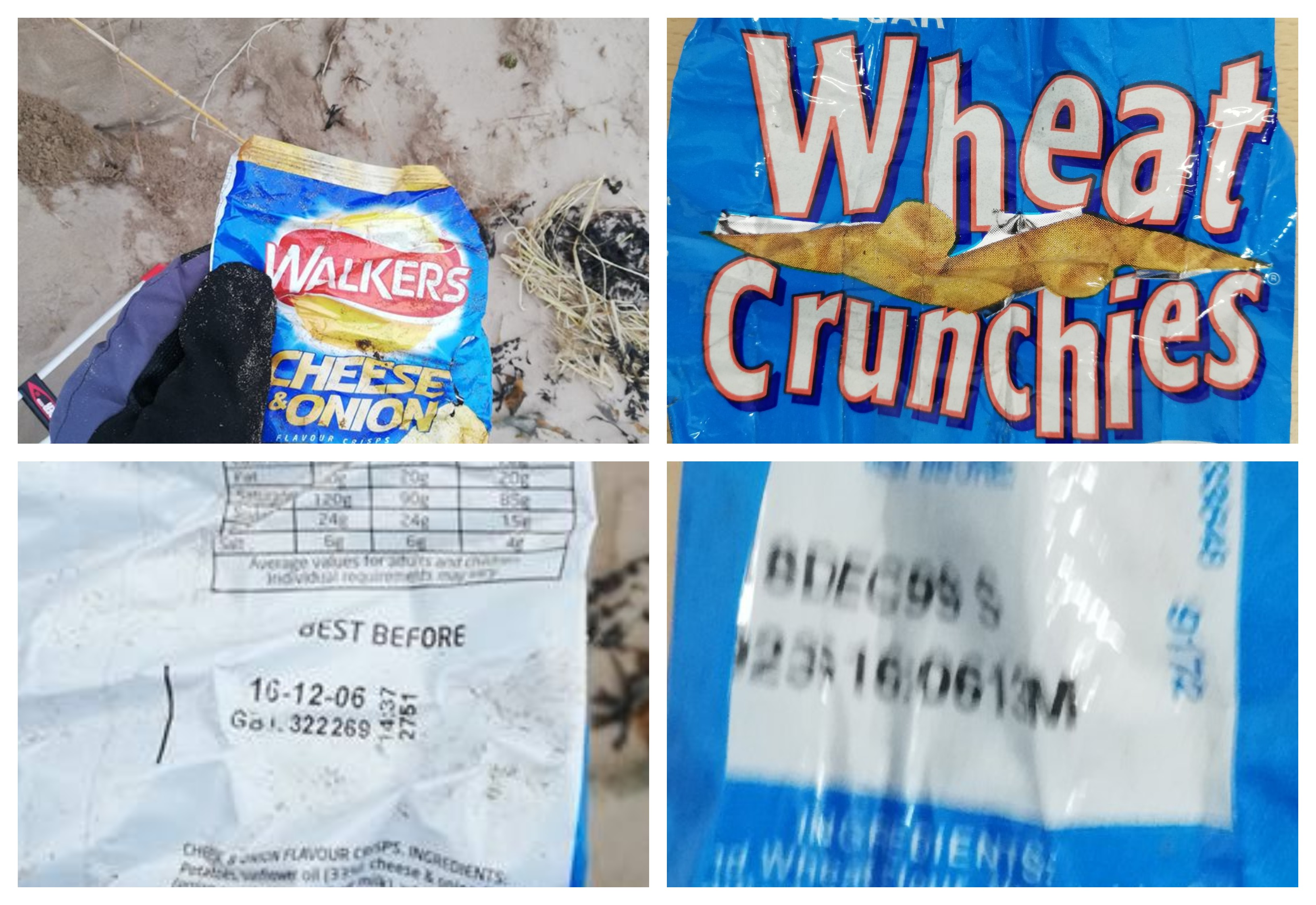 A bag of crisps dating back to 1999 has been found on a Fife beach.