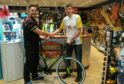 Colin Murray of Nicholson's Cycles with Ross Duncan
