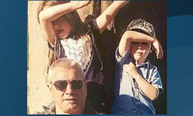 Derek Wilkie with his grandchildren Maia and Fellan.