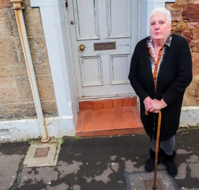 Diane Raybould outside her Anstruther home.