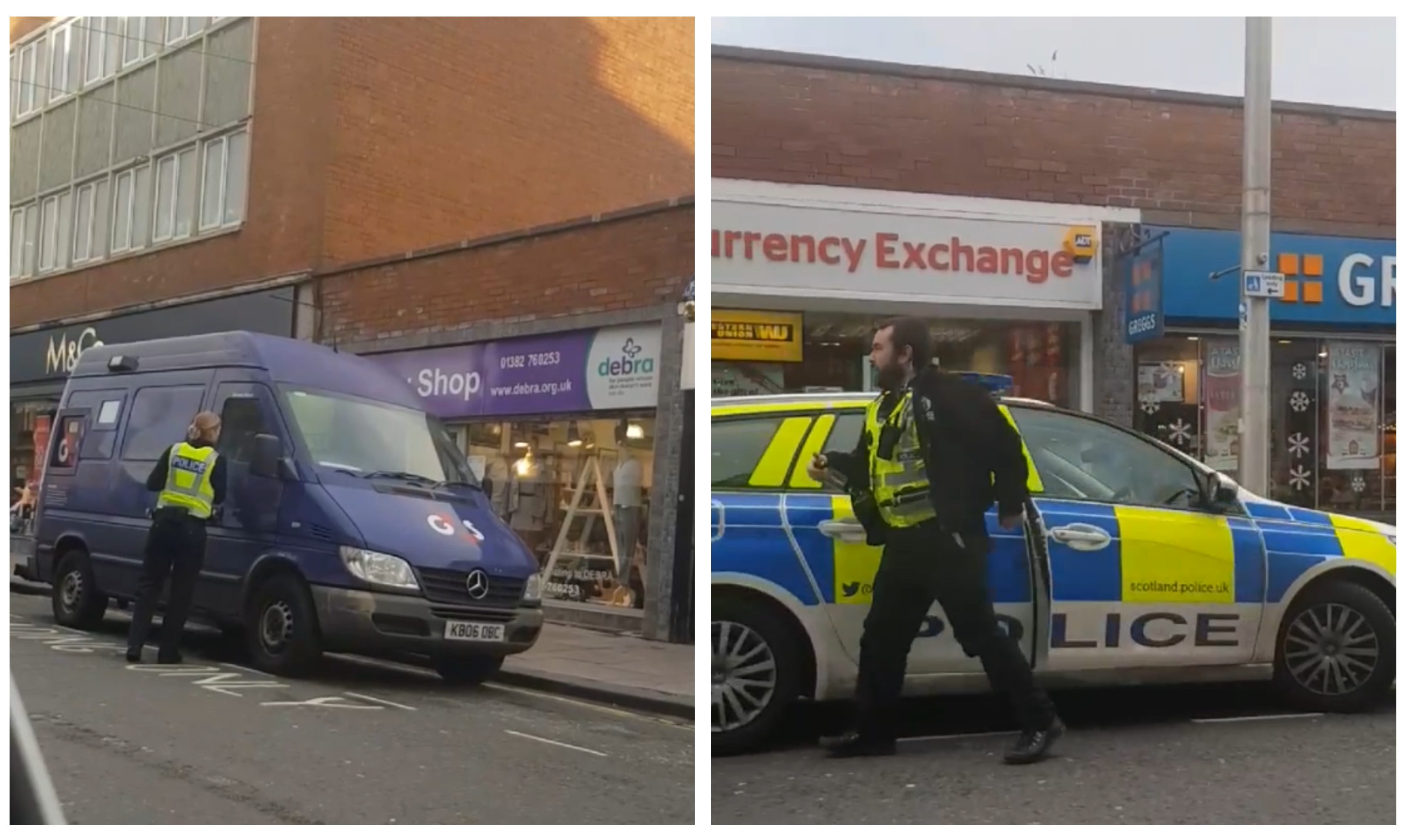 Police were called to the G4S van in Broughty Ferry.