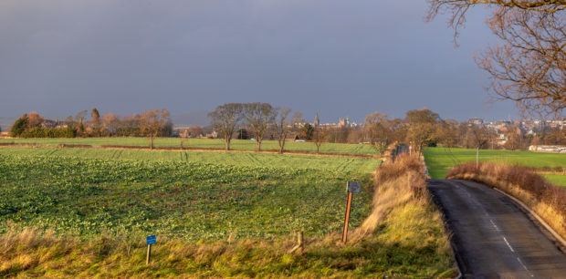 The site on Grange Rd, Dunfermline which is to be developed, with more than 2,000 homes planned