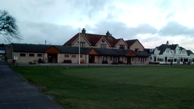 The Grange clubhouse.