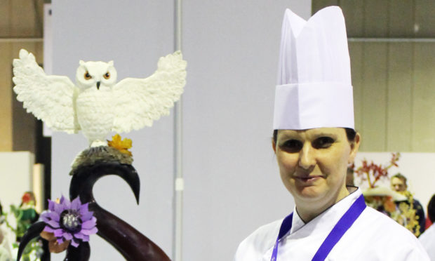 Taystful owner Shona Sutherlands showpiece featured a white owl.