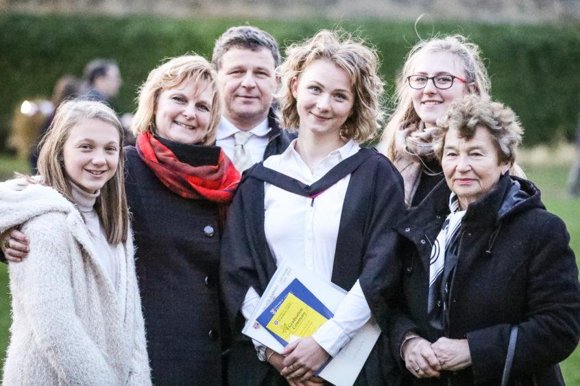 Magdalena Pribanova and family.