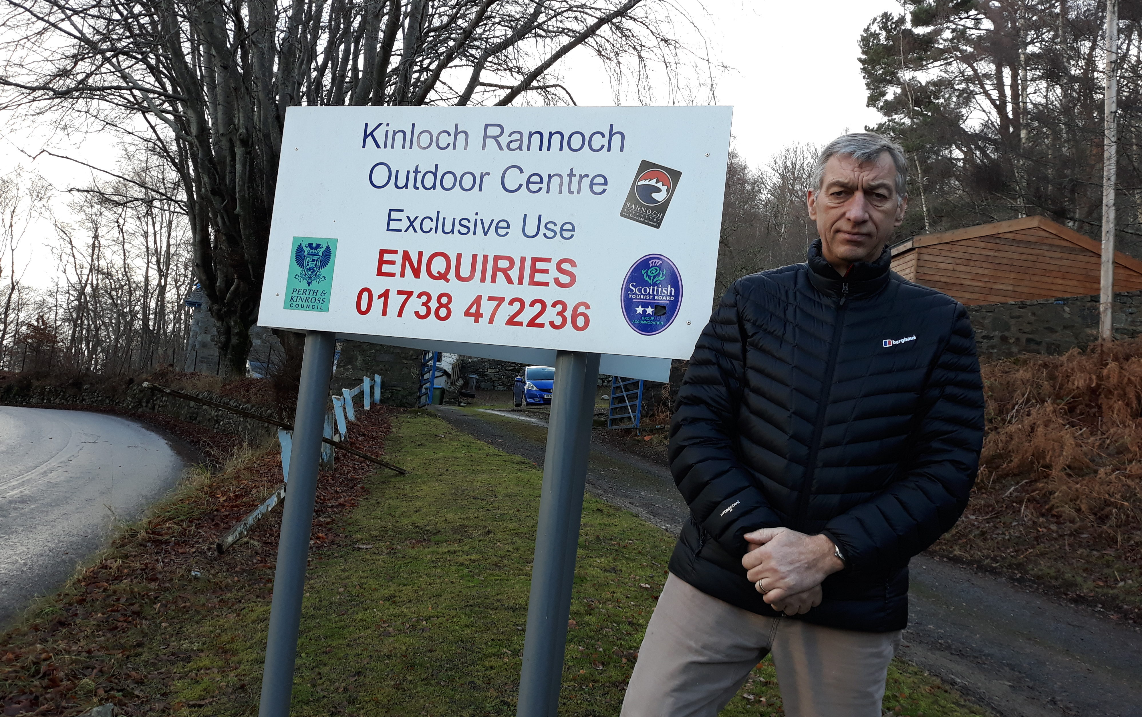 Councillor Mike Williamson at the Kinloch Rannoch Outreach Centre