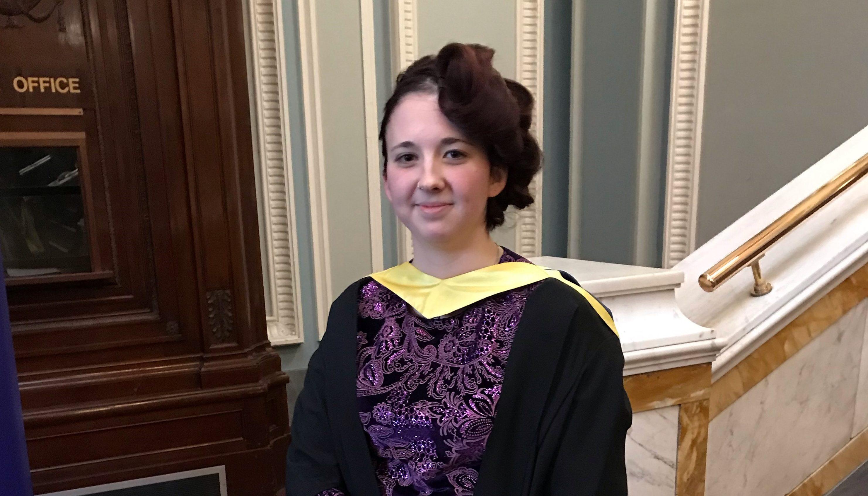 Laura Jackson at her graduation.