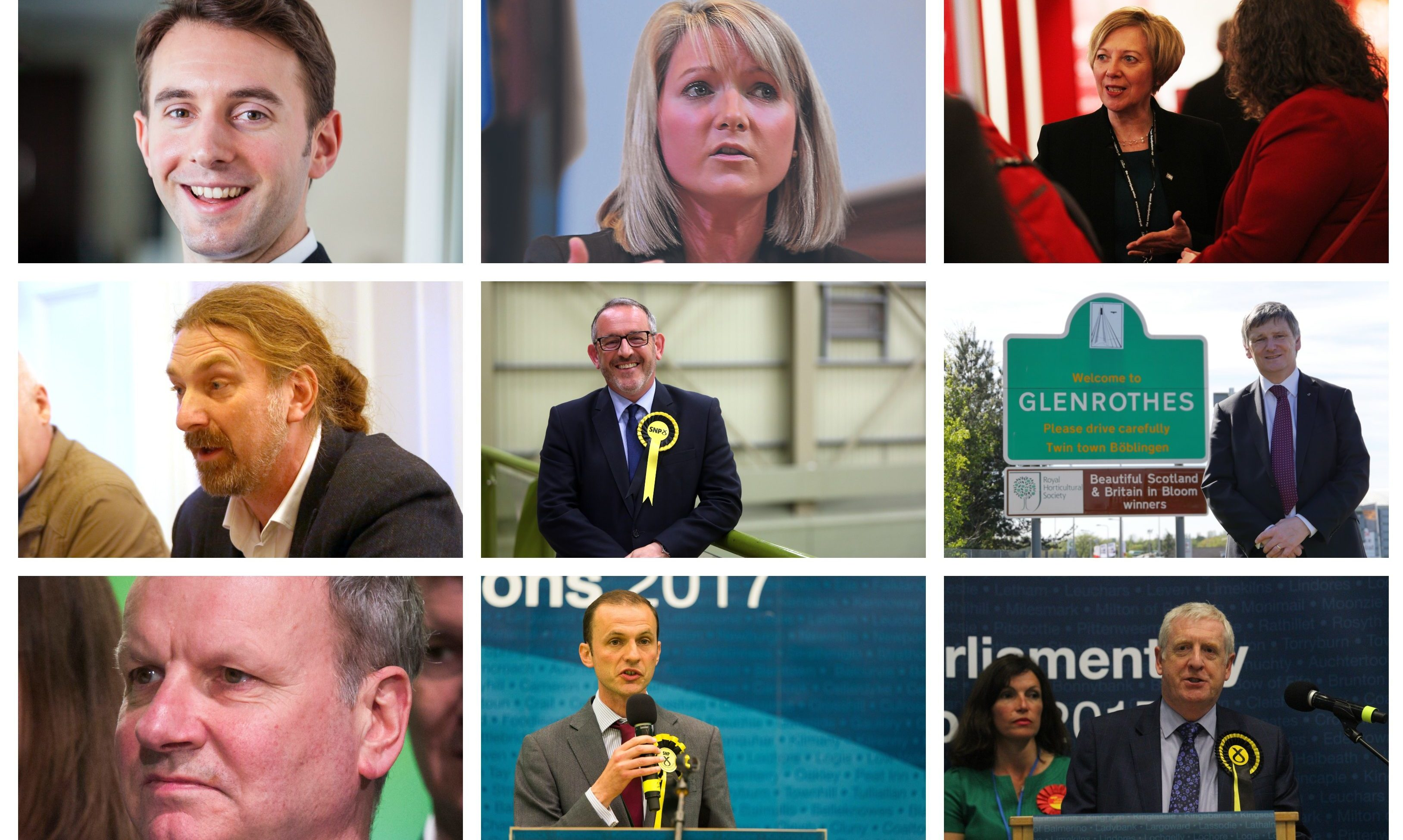 Local MPs: Luke Graham, Kirstene Hair, Lesley Laird, Chris Law, Stewart Hosie, Peter Grant, Pete Wishart, Stephen Gethins and Douglas Chapman.