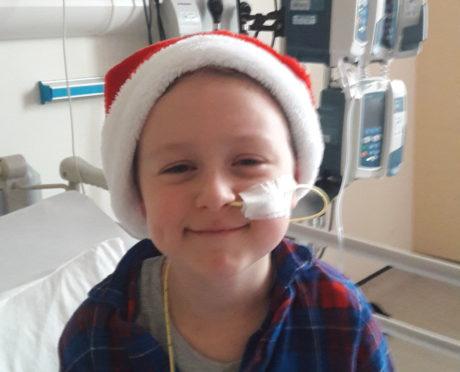 Wee Michael Gartshore will be spending Christmas in hospital.