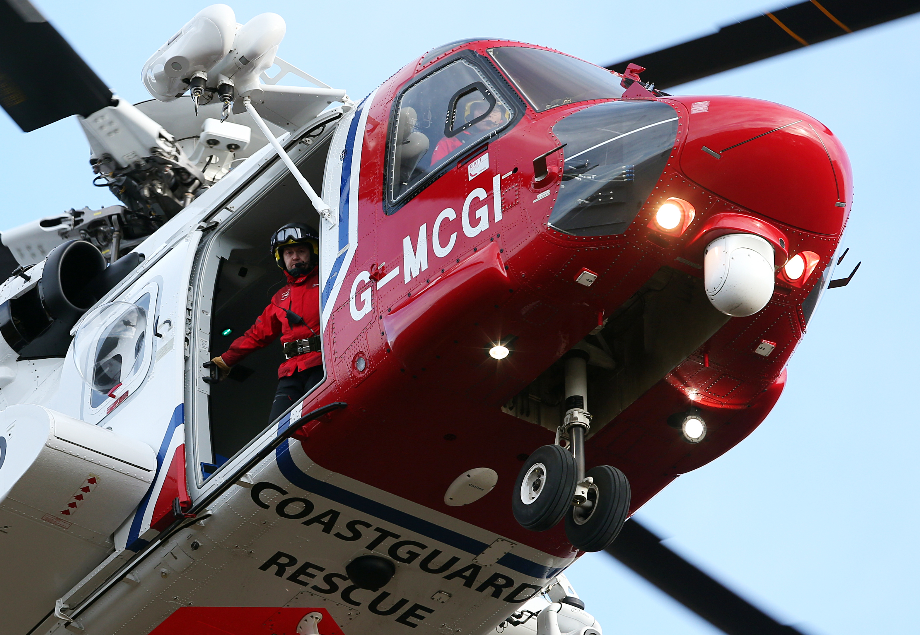 A Coastguard helicopter was used in the search.