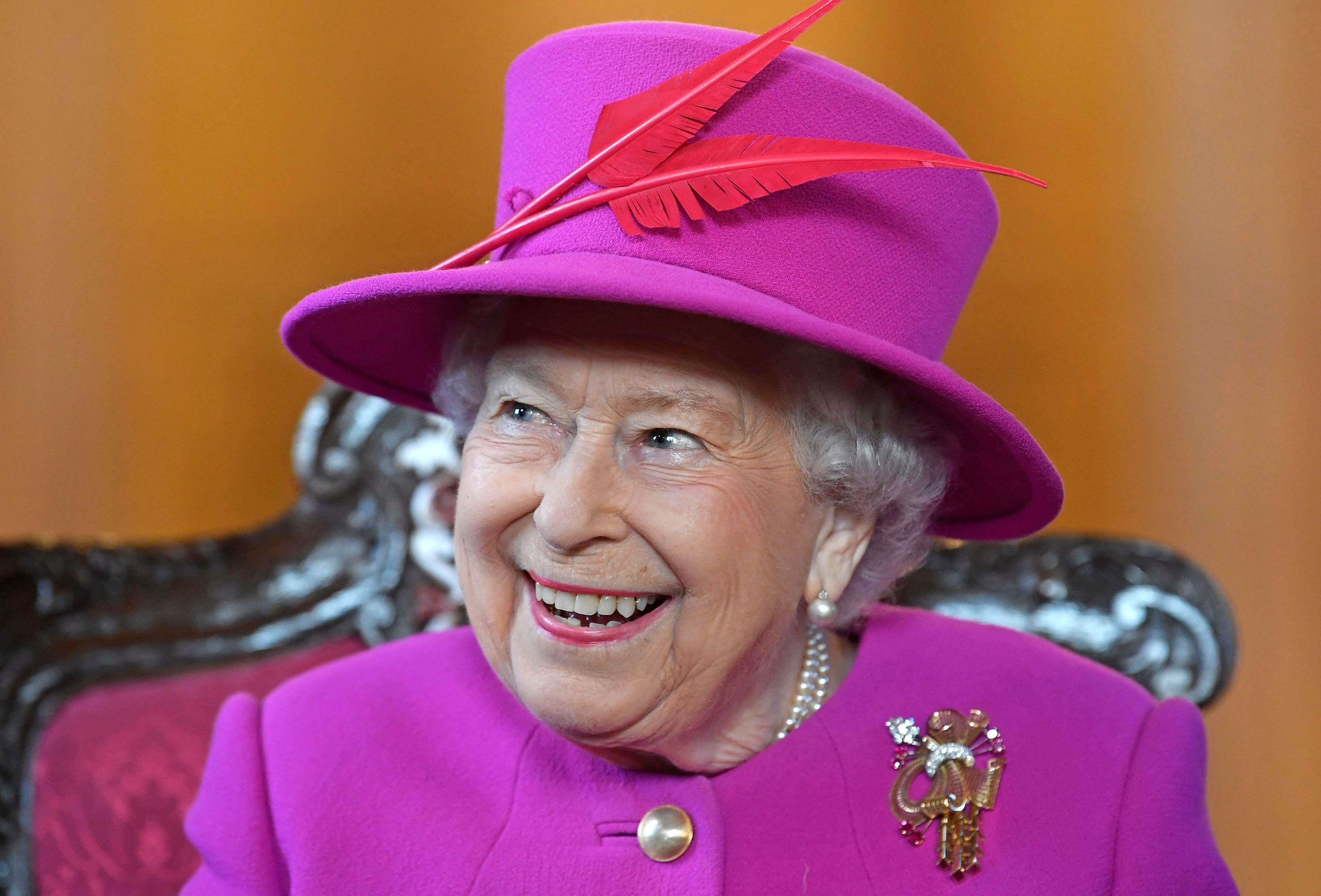 Queen Elizabeth II, during a visit to The Honourable Society of Lincoln's Inn in London .