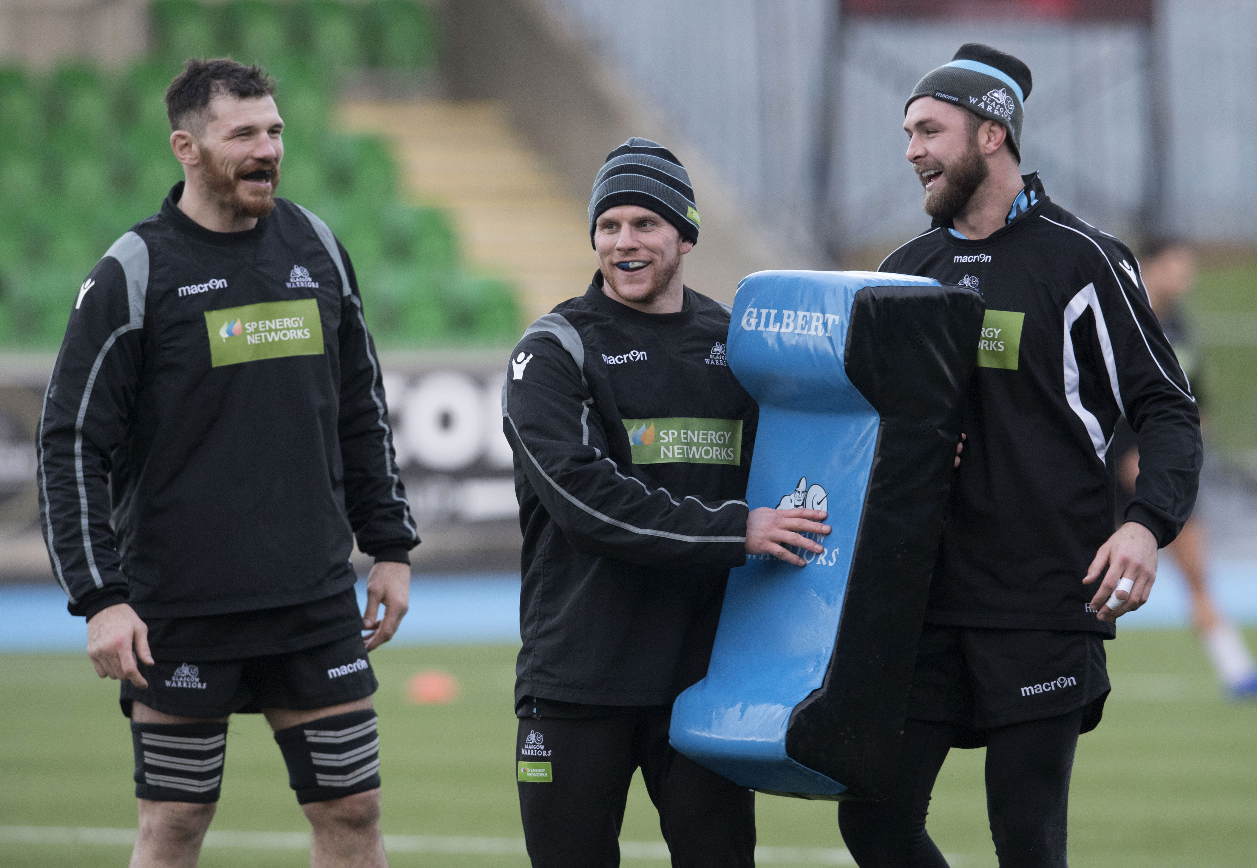 Tim Swinson (left) and Chris Fusaro (centre) are in Glasgow's 23 for Lyon, but not captain Ryan Wilson.