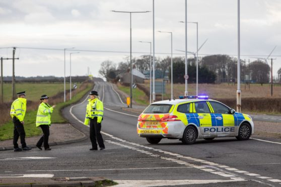 Police diverting traffic from the scene of a fatal accident in 2018.