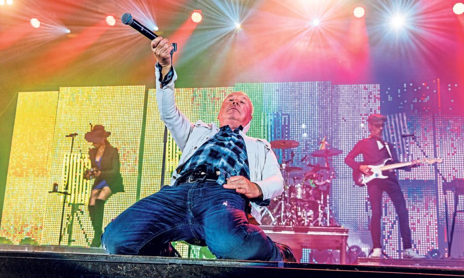 Jim Kerr and Simple Minds rolled back the years. Steven Brown/DCT Media