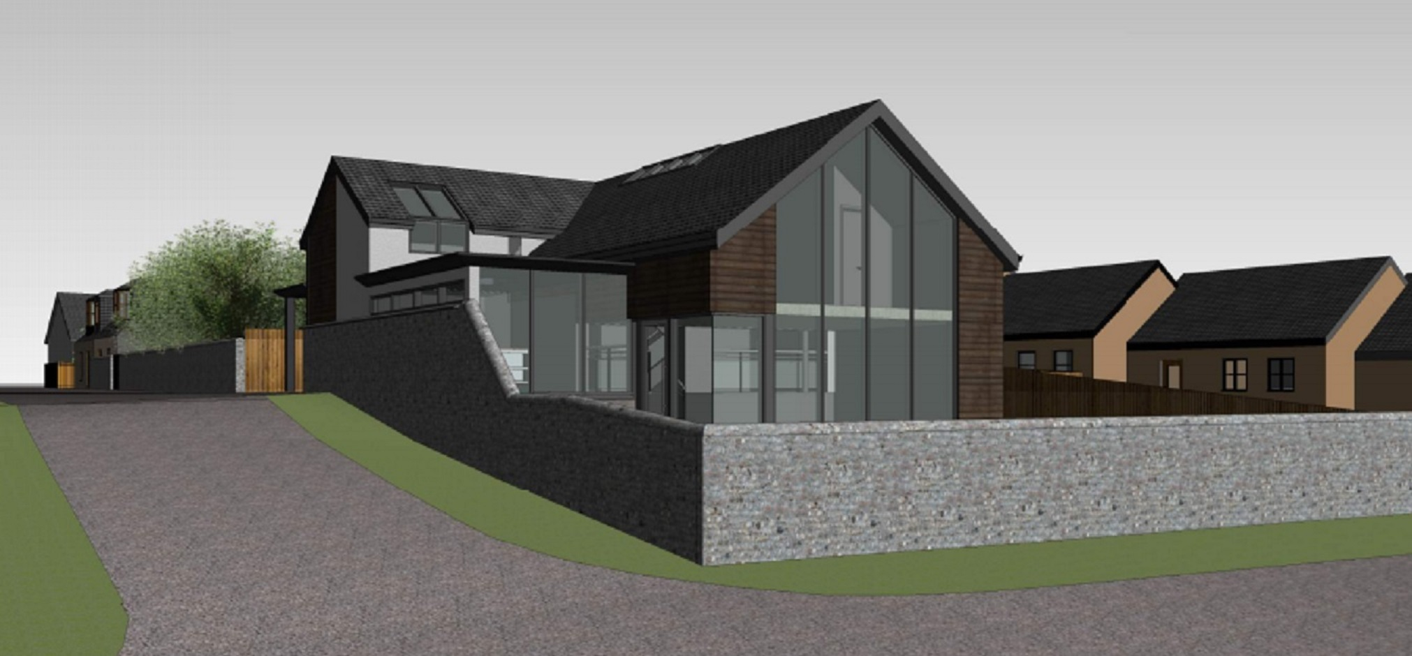An architect's impression of the extended seafront bungalow
