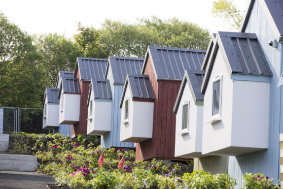 The low cost modular homes that make up the  Social Bite Village in Edinburgh were  designed and constructed by Carbon Dynamics Picture: Jeff Holmes