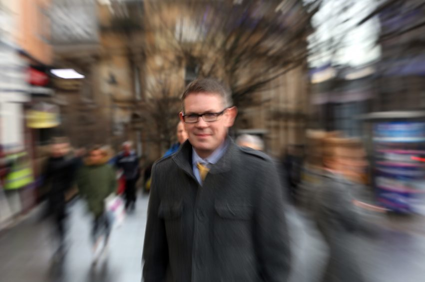 41-year-old Dundee lawyer Simon Allison talking about when he had a massive stroke.