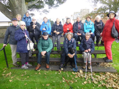 The pic is of one of Cupar U3A's two walking groups