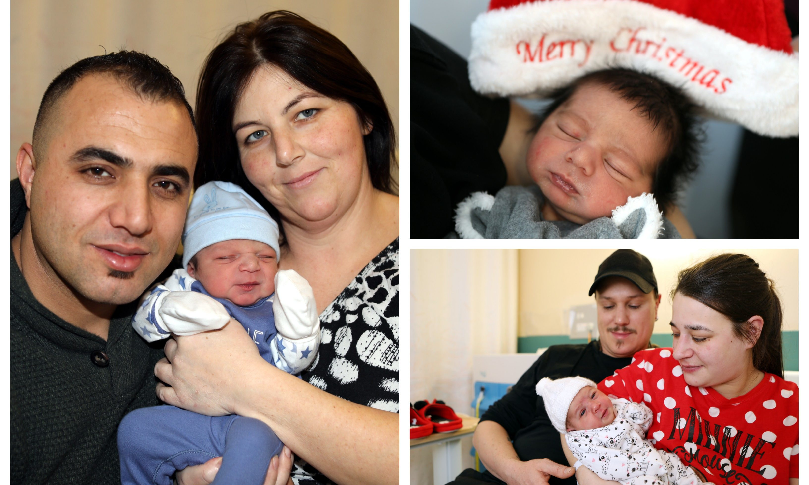 Families in Dundee welcomed the arrival of newborns on Christmas Day.