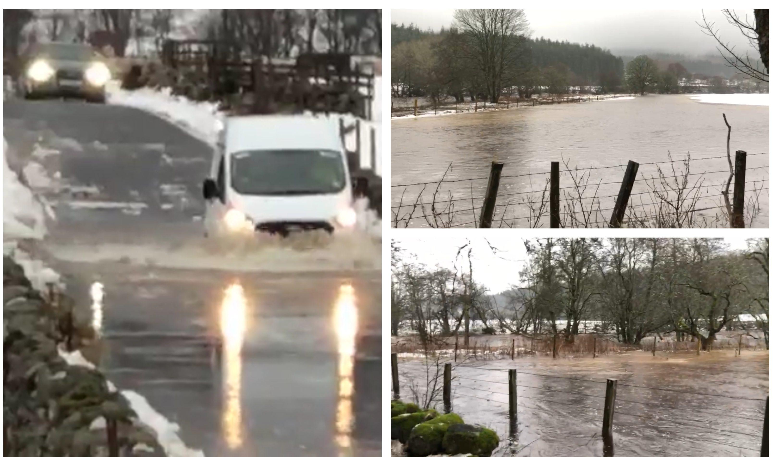 Flooding near Kirkmichael.