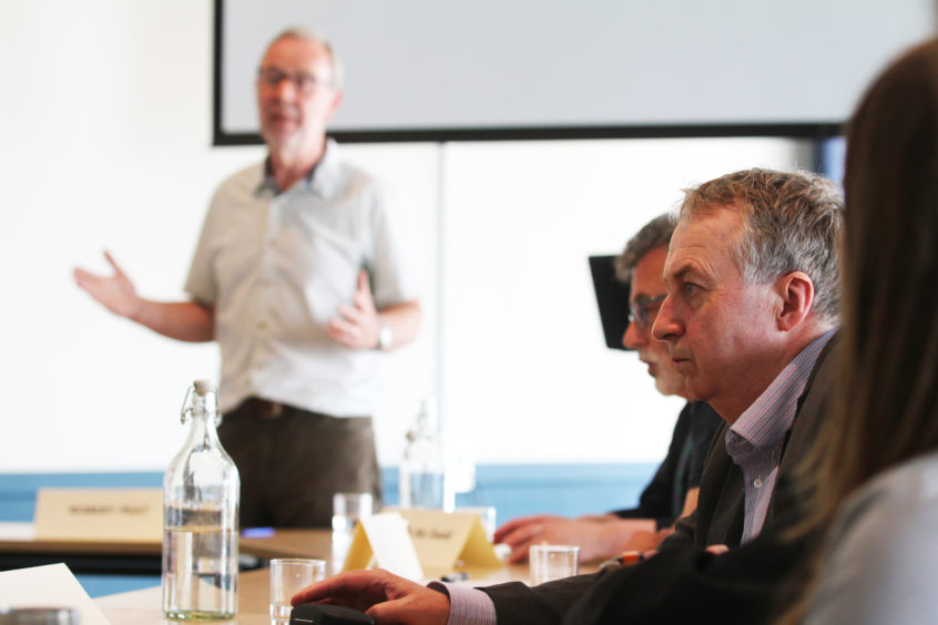 Councillor Ken Lynn (right) at a previous drugs commission meeting