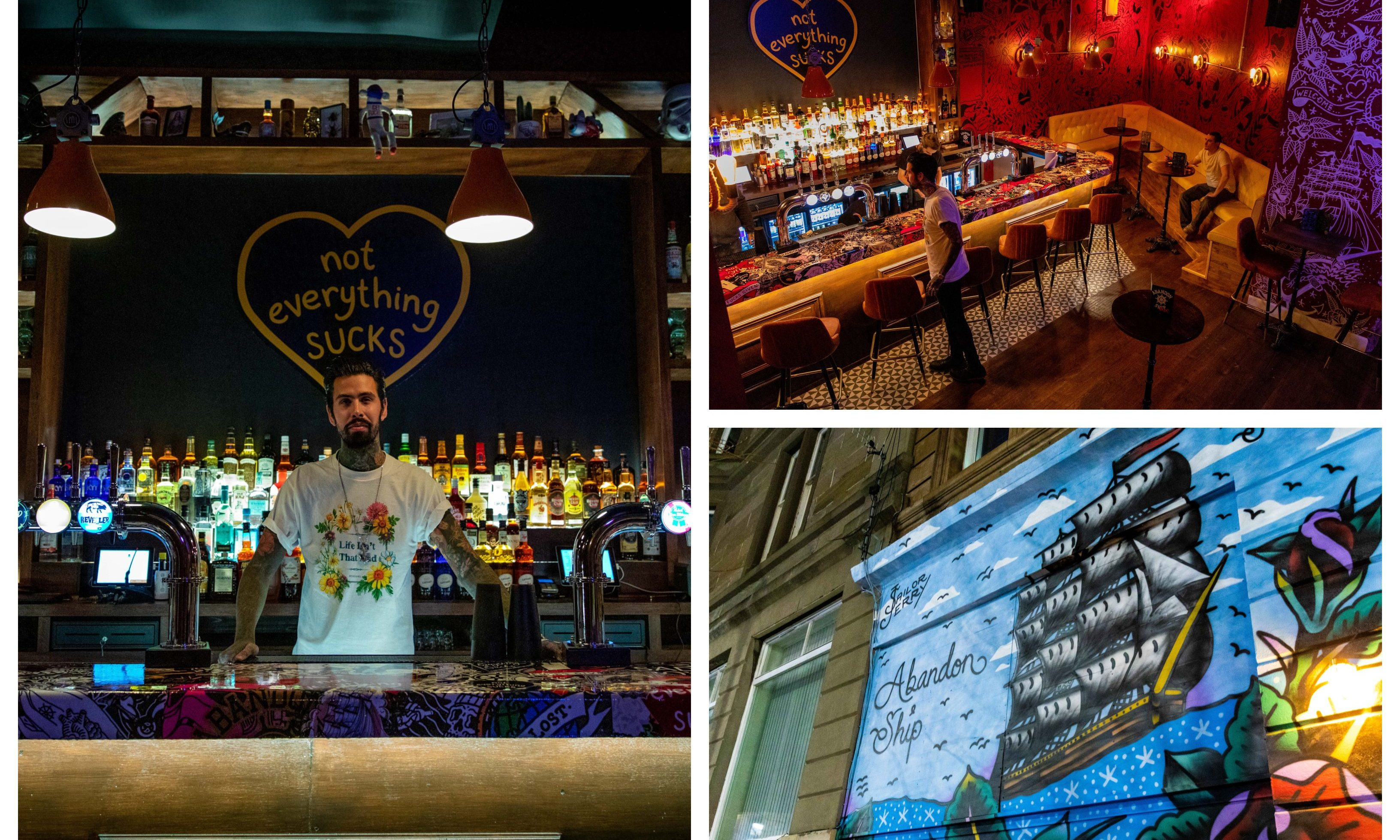 Abandon Ship Bar has opened its doors.