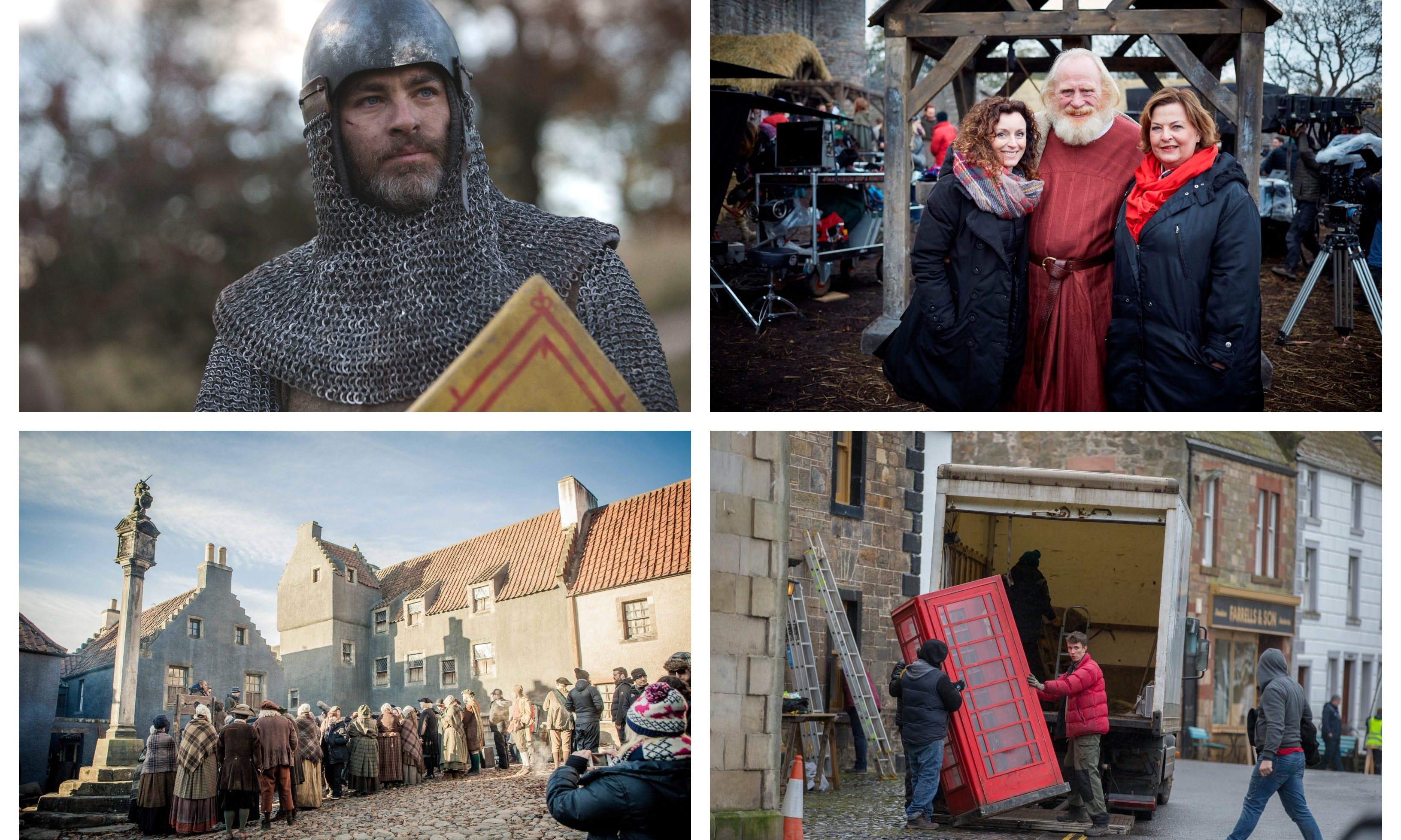 Filming of both Outlaw King and Outlander took place in Tayside and Fife.