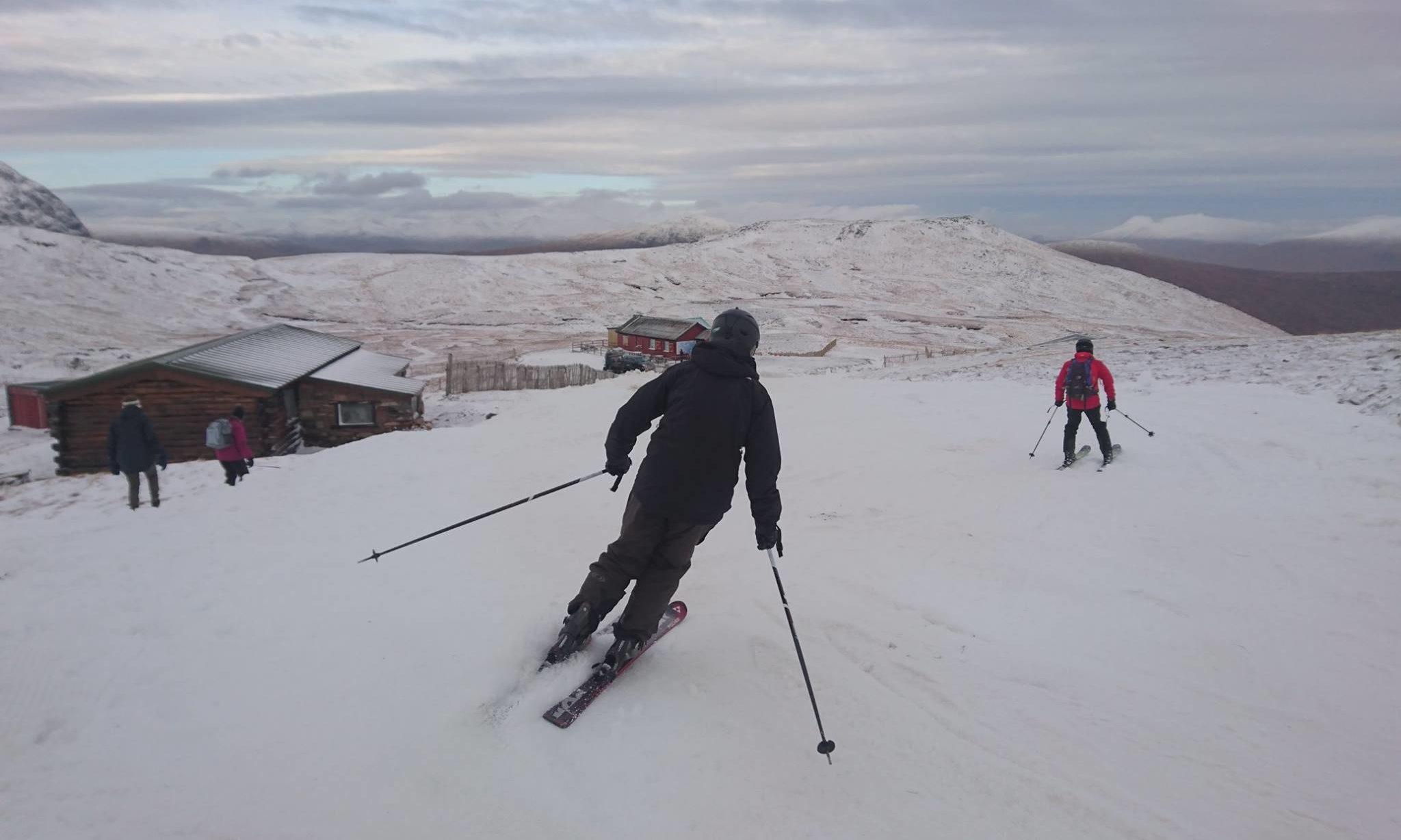 The ski season gets under way at Glencoe.