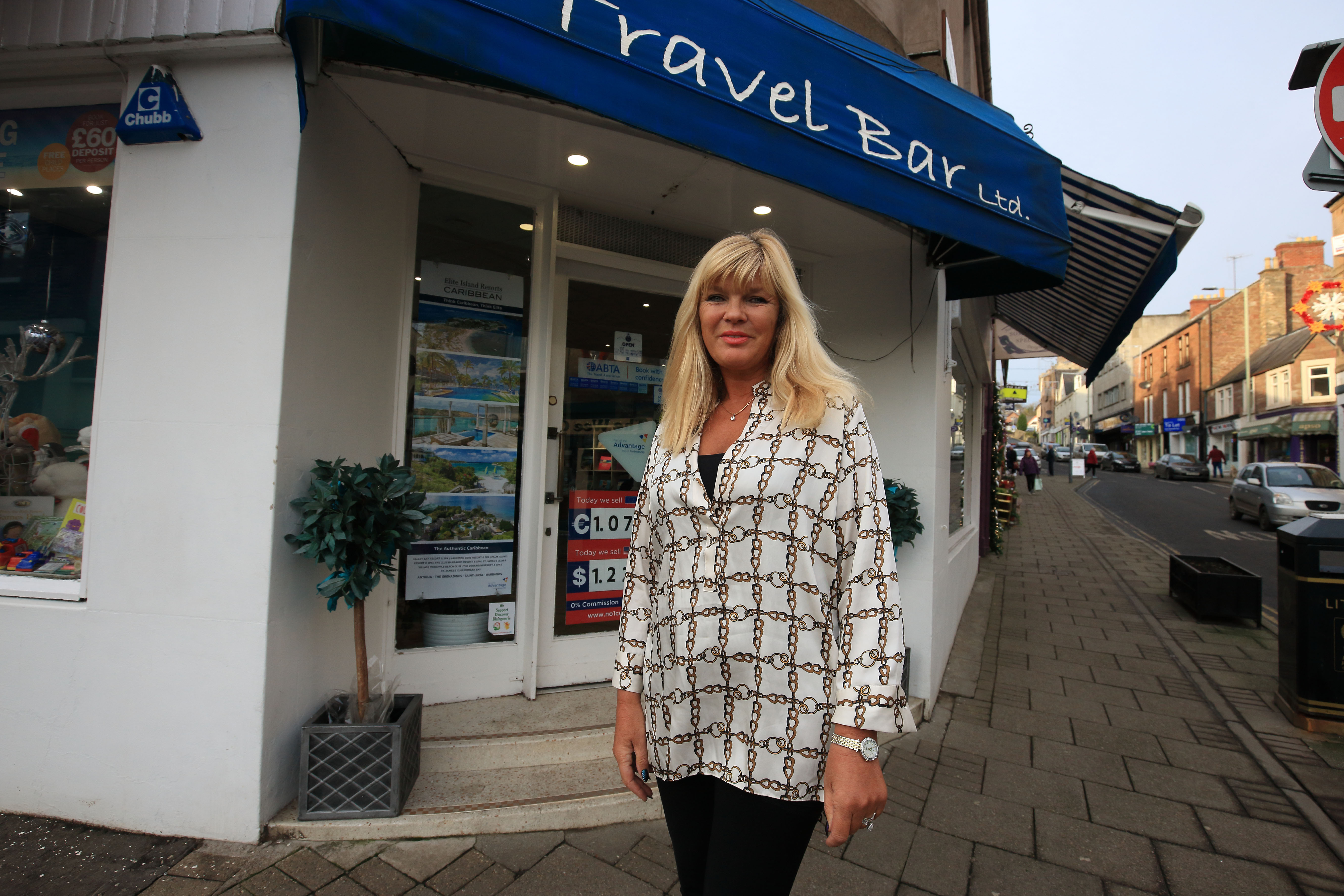 Travel Bar owner Brenda McCready.