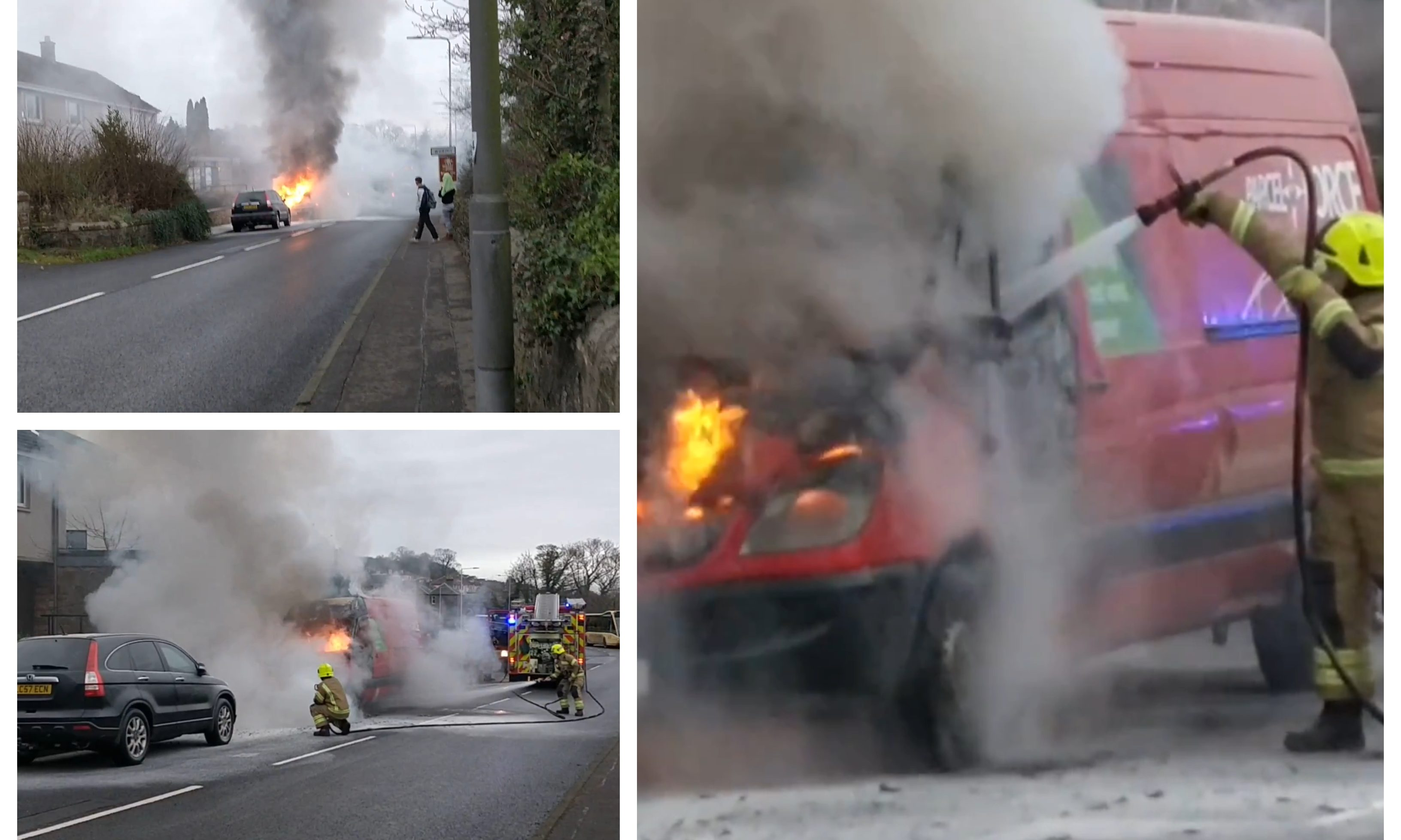 The van fire in Wormit.