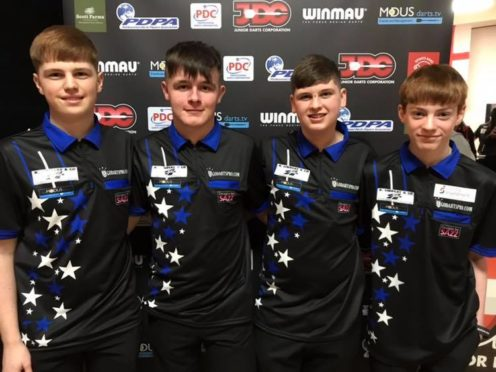 Johnny Golazzi, Kyle Walker, Nathan Girvan and Connor Mitchell