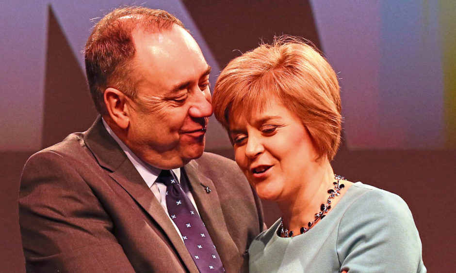 Alex Salmond and Nicola Sturgeon in 2014.
