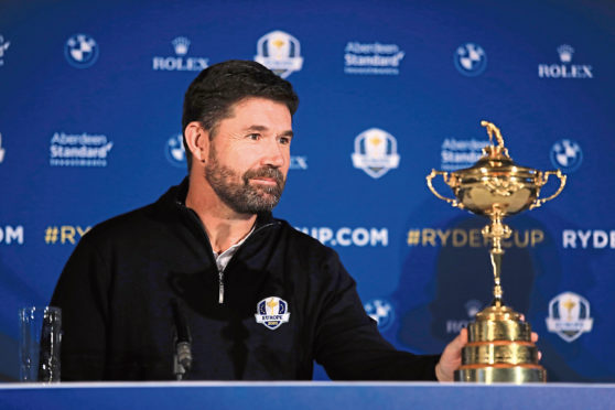 Padraig Harrington will captain Europe in the Ryder Cup in 2020.