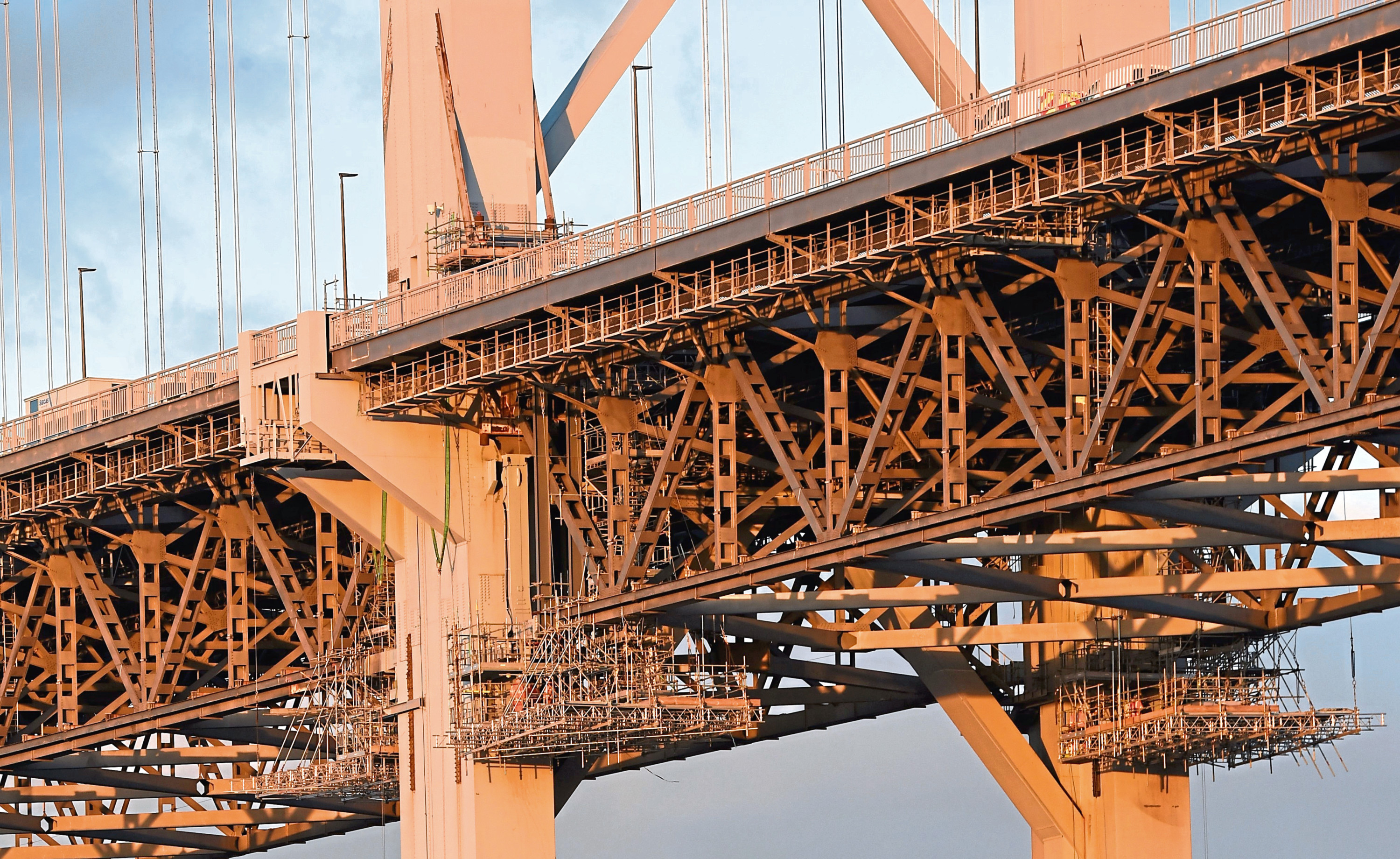 Span Access platforms on the Forth Road Bridge