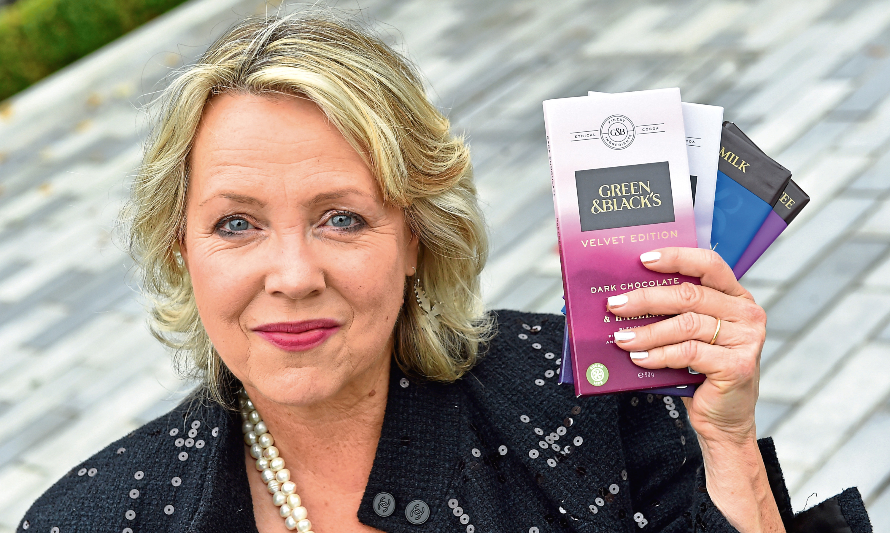 Jo Fairley founded the Green and Blacks chocolate brand.
