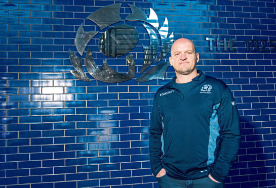 16/01/19 BT MURRAYFIELD STADIUM - EDINBURGH Scotland head coach Gregor Townsend is pictured as he announces his squad for the Six Nations