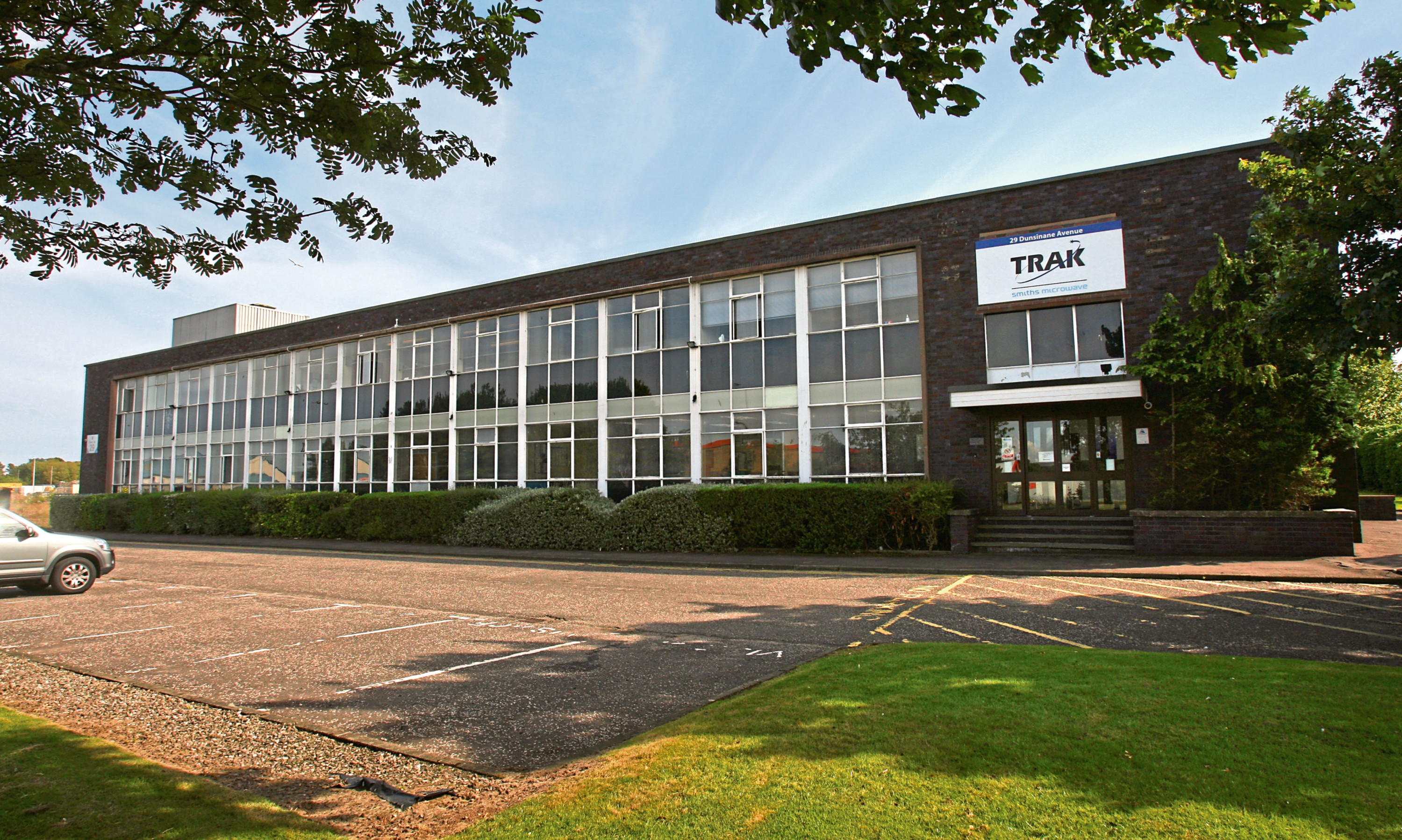 TRAK Microwaves premises at Dunsinane Industrial Estate in Dundee.